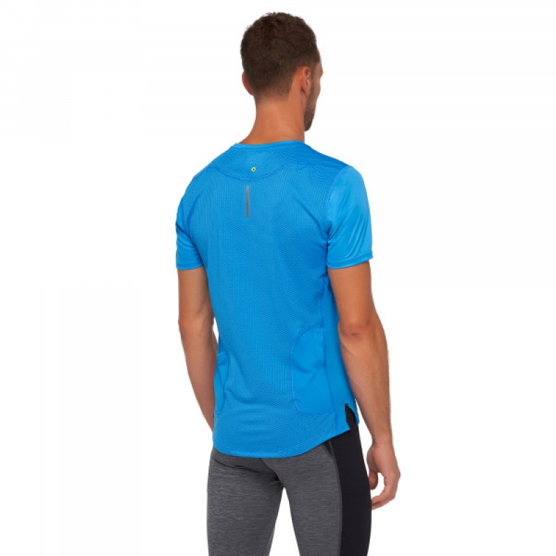 Macron Løbe t-shirt Patrick mænd blå